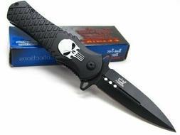 Dark Side Blades Spring Assisted Knife Black aluminum Handle