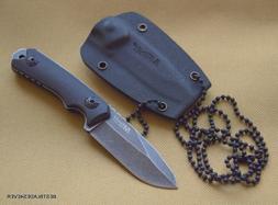 MTECH USA NECK KNIFE KNIFE WITH KYDEX SHEATH - 4.75 INCH OVE