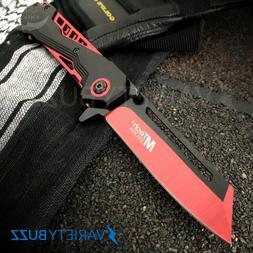 MTECH USA RED SPRING TACTICAL FOLDING POCKET KNIFE Assist Op