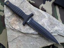"MTech 9"" Double Edge Belt Boot Field Knife Dagger Black NEW"