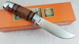 """Marbles Fixed Blade Hunter Knife 8 1/2"""" Leather Wrap Handle"""
