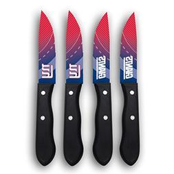 New York Giants NFL 4 Pc Stainless Steak Knife Set