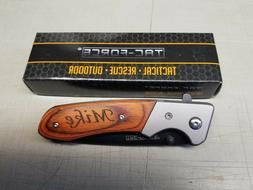 Personalized Engraved TAC-FORCE Pocket Knife with Clip Groom