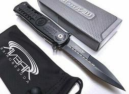 Purple Glass Breaker Rescue Tool Pocket Knife Spring Assist