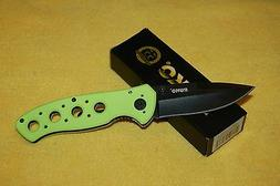 RUKO High Visibility Aluminum Frame Folding Knife Black Coat