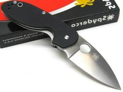 Spyderco C216GP Black Efficient Straight 8Cr13Mov Steel Fold