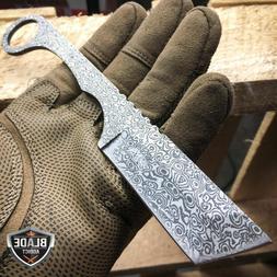 Straight Edge Razor Fixed Blade Damascus Cleaver TANTO Hunti