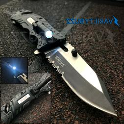 TAC-FORCE Black SHERIFF Spring Open LED Tactical Rescue Pock