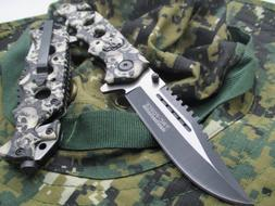 Tac-Force Assisted Opening Linerlock w/ Skull Design A/O Spe