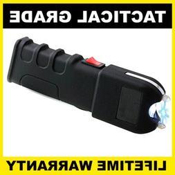 Tactical METAL Stun Gun Maximum Power Rechargeable With Brig