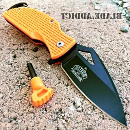 ASSISTED OPEN TACTICAL POCKET KNIFE + Fire Starter + Carabin