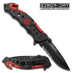 TAC Force Assisted Opening FireFighter Rescue Pocket Knife