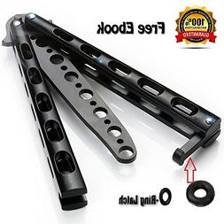 Anlado Balisong Butterfly Knife Trainer Practice with O-Ring