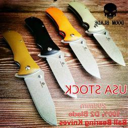 Ball Bearing Knives Folding Knife G10 Handle Hunting Pocket