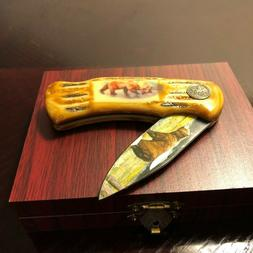 WILD OUTDOORS HOMEBELLO Bear Decorative Pocket Knife Collect