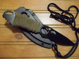 belt neck knife tactical self defense mu