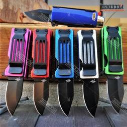 Lighter Holder Spring Assisted Tanto Pocket Knife Bro Multit
