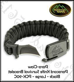 black para claw paracord knife