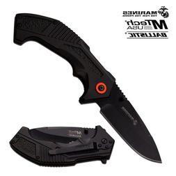 MTECH USA BLACK Spring Assisted Pocket Knife Outdoor ALUMINI