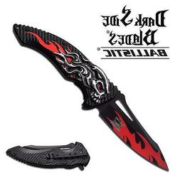 DARK Side Blade  Assisted Knife 5 Inches With Red and Black