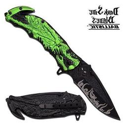 Dark Side Blades Grim Reaper Spring Assisted Folder Knife -