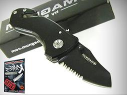BOKER MAGNUM Black COMPACT RESCUE Knife 01MB456 New! + free