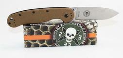 BRK Designed by ESEE Avispa Knife Coyote Brown Handle D2 Ste