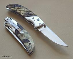 BROWNING PRISM II MOSSY OAK CAMO FOLDING POCKET KNIFE WITH P
