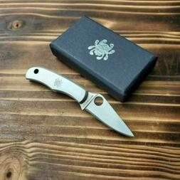 Spyderco Bug Stainless Handle 3Cr13 Plain Edge Miniature Kni