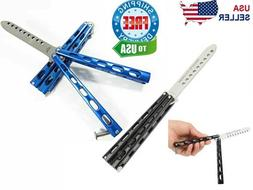 Butterfly Balisong Trainer Knife Training Dull Tool Metal Pr