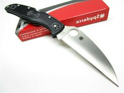Spyderco C10FPWCBK Black Endura 4 Plain Edge Folding Wharncl