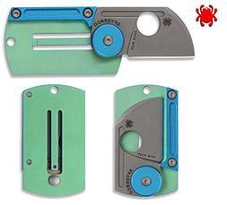 New Spyderco C188altip Dogtag Folder Aluminum Titanium Plain