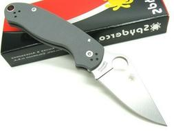 Spyderco C223GPDGY Gray Para Military 3 Plain Edge Maxamet F