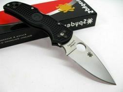 Spyderco C41PBK5 Native5 Lightweight Black Plain Edge FRN Ha