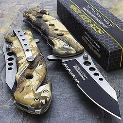 "7.75"" Tac Force Camo Spring Assisted Tactical Folding Knife"
