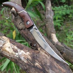 Camping Survival Hunting Folding Knife Pro Karambit Blade Ta