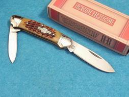 Canoe Pocket Knife with Jigged Bone Handles