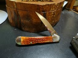 "CASE 4 1/4"" CLOSED POCKET KNIFE COPPERLOCK ORANGE HARVEST CO"