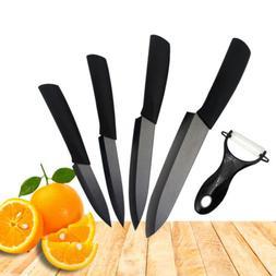Ceramic Knife 3 4 5 6 inch Black Blade Peeler Slicer Kitchen