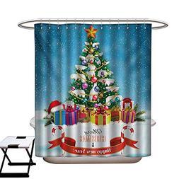 BlountDecor Christmas Shower Curtains Digital Printing New Y