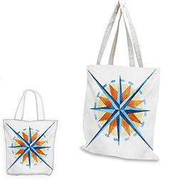 Compass easy shopping bag Watercolor Directions North South