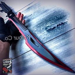 New Cool 25-Inch Red Sword Full Tang Machete Blade Katana Sa