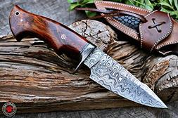 Custom Handmade Hunting Knife Bowie Knife Damascus Steel Sur