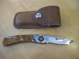"CUSTOM BUCK KNIFE 500 DUKE ~ Armadillo By ""Leroy Remer"" of B"