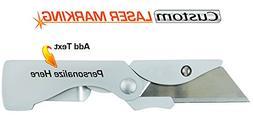 Custom Laser Engraved Gerber EAB Pocket Knife Box Cutter