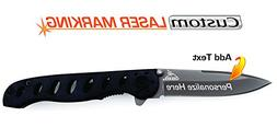 Custom Laser Engraved Knife - Gerber EVO Jr. Fine Edge