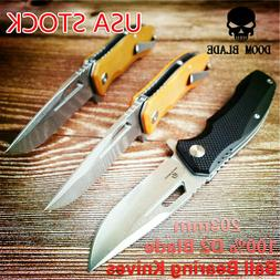 D2 Blade Ball Bearing Knives Folding White Blade Knife Campi