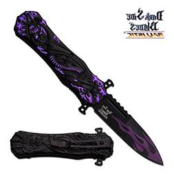 Dark Side Blades Ballistic Violet Dragon Claw Custom Spring