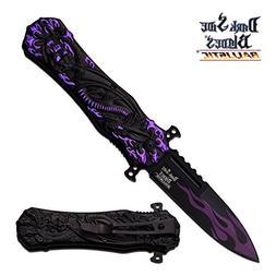 Dark Side Blades Ballistic Violet Dragon Claw Custom Spring
