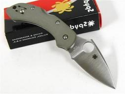 Spyderco Dragonfly 2 Plain Edge Folding Knife, Foliage Green
